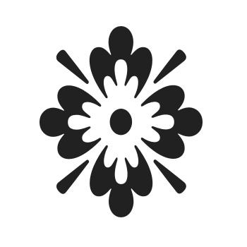 Květinový ornament 12 - malířská šablona